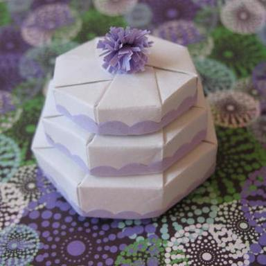 3 Tier Origami Wedding Cake Mini Gift Box